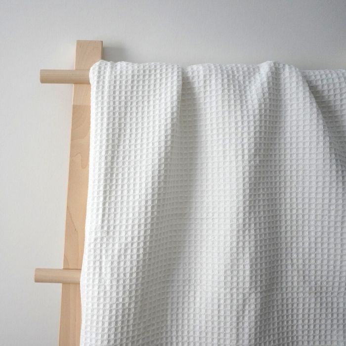 Κουβέρτα πικέ - Λευκή με δαντελίτσα