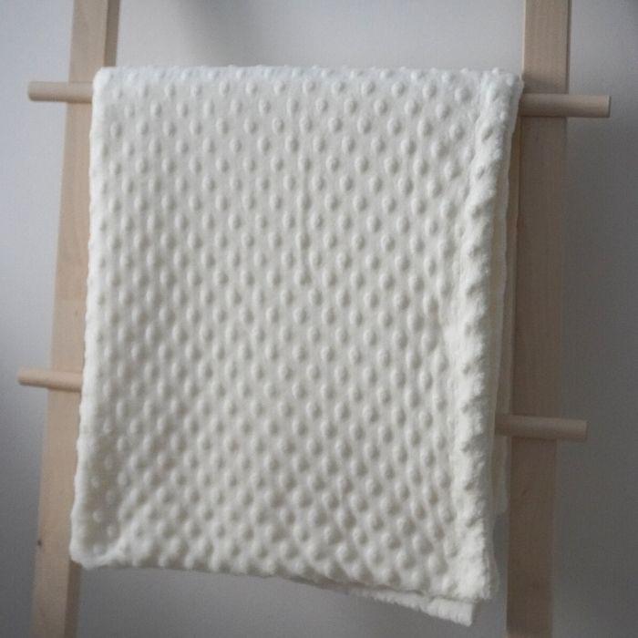 Ράνερ κρεβατιού - Minky λευκό
