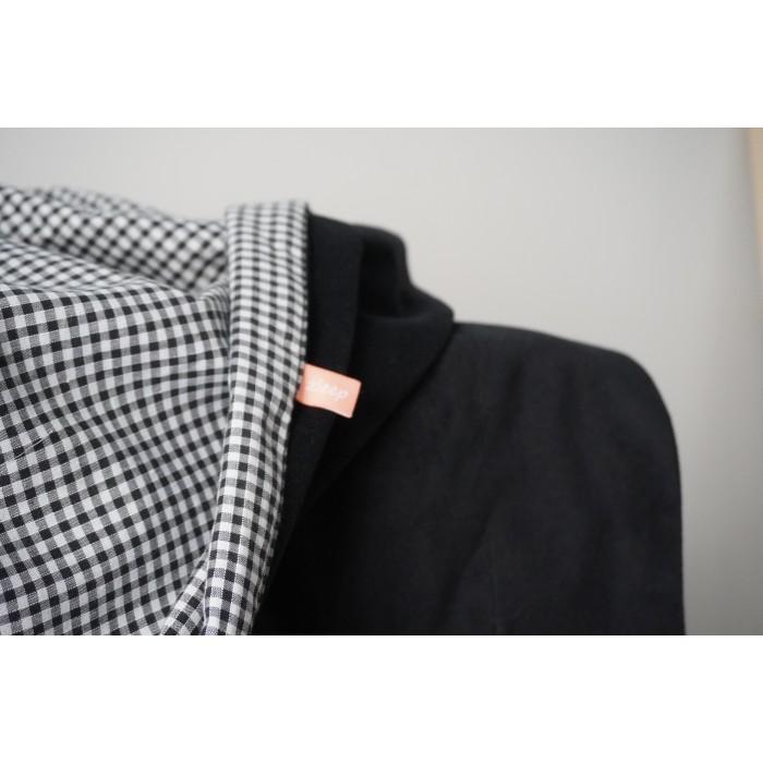 Ράνερ κρεβατιού - Καρό ασπρόμαυρο
